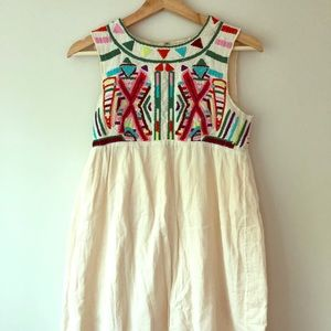 Anthropologie Gryphon summer dress embroidered